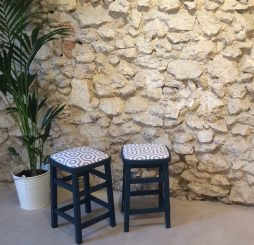 Relooking tabourets d'appoint