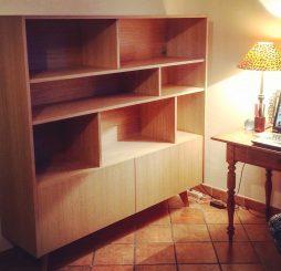 Bibliothèque scandinave – Design et finition