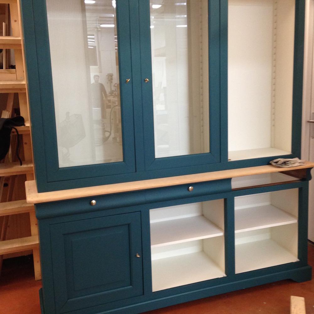 buffet relooking peinture bleu canard 2 kontrast design. Black Bedroom Furniture Sets. Home Design Ideas