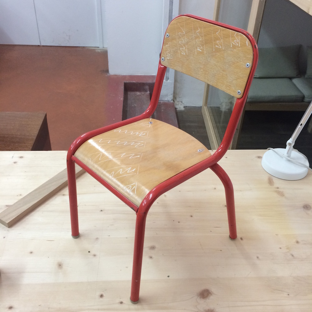 chaise vintage enfant kontrast design. Black Bedroom Furniture Sets. Home Design Ideas